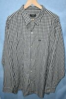 Mens Polo Jeans Company Ralph Lauren Check Black White Long Sleeve Shirt XL VGC