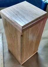 OAK wood Cremation Ashes Casket Urn Funeral Remembrance Burial NEW 5 X 10.5