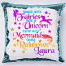 Unicorn mermaid Sequin Cushion Cover Magic Pillow Birthday Birthday girls gift