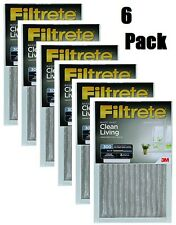 """(6) 3M 324-6 14"""" x 30"""" x 1"""" Gray Dust Reduction Filtrete Furnace Air Filters"""