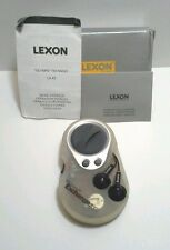 Lexon Olympe FM Radio LA43 Headphones Personal/Sport Battery Powered Belt Clip