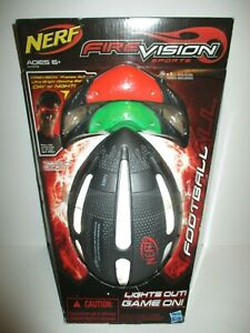 Nerf Firevision Sports Glowing Football w/ 2 Headsets Hasbro NEW