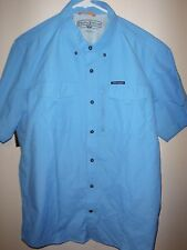 Field and Stream Blue Mens S/S NWOT Travel Shirt Medium *L runs small* $60