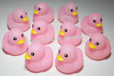 10 X RUBBER DUCKS PINK FOR BABY SHOWER PARTY FAVORS RECUERDOS GIRLS GIFTS PATOS