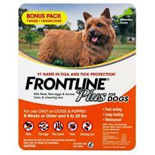 Frontline Plus Flea & Tick Dog Treatment 5-22 lb, 8 Doses, 8-Month Supply New