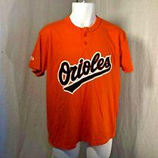 Majestic Orange Baltimore Orioles Henley MLB Youth T-Shirt Size M L NWOT