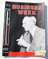 1938 Business Week Magazine April 30 4/30 Stocks Bonds Fine+ Grade Vintage