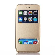 Etui Housse Coque Pochette Or Doré Gold View Case Apple Iphone 6 Plus S