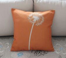 Orange Vintage Dandelion Cotton Linen Throw Pillow Cushion Cover Home Decor Z453
