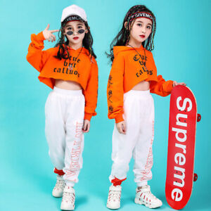 Children Jazz Hip-Hop Dancewear Kids Dance Wear Girls Sports Costumes