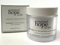 Philosophy Renewed Hope In A Jar All-Day Skin-Renewing Moisturizer 2 OZ. NIB