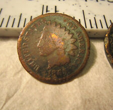 1865 & 1867 Indian Head Cent - Circulated - Ungraded - 1867 Is Rough
