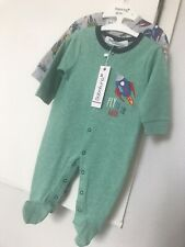 Two Baby Gro . Babaluno . Lovely Quality . 0-3 & 3-6 Months . Space Ship Design