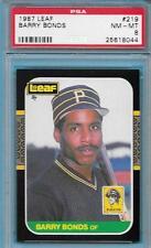 BARRY BONDS ROOKIE 1987 LEAF CANADIAN BASEBALL CARD 219 PIRATES PSA 8 NM-MT *ABC