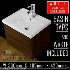 Vanity Unit Cabinet Bathroom Ceramic Basin Sink Solid Wood Wall Hung WH50-SL01