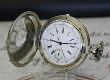 Hochwertige antike Chronograph Sprungdeckel Taschenuhr hunter pocket watch