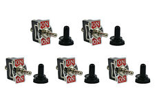 5 pc TEMCo 20A 125V ON-OFF-ON SPDT 3 Terminal Toggle Switch w/ Waterproof Boot