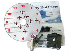 Hágalo usted mismo reloj Kit. aviación británica de CD, el equipo de pantalla Flechas Rojas
