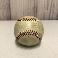 1964 Detroit Tigers Team Signed Reach American League Baseball Joe Cronin