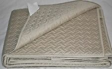 Hudson Park DECO FALLS QUEEN COVERLET QUILT & SHAMS Taupe $540 New