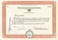 Matthews North Carolina Telephone Co. stock certificate
