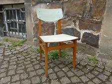 50er Jahre Küchenstuhl old fivties Chair elegantes Design hellblaues Karomuster