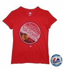 NHL Damen T-Shirt CHICAGO BLACKHAWKS Eishockey Circle and spots Women Shirt