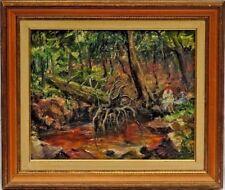 Künstlerische Malereien auf Holz mit Öl-Technik von 1900-1949