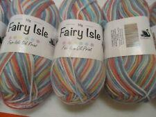 Cygnet Fairy Isle Double Knitting Yarn - Foxglove Fair Isle 5 X 50G