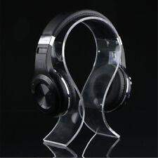 Acrylic Headphone Display Stand Holder Head Mounted Headset Earphone Desk Hanger