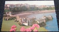 Wales Tenby North Beach from Castle Hill - posted 1976