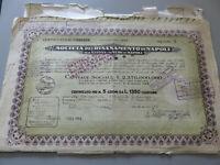 Sociedad Para El de Renovación Por Napoli Certificado 5 Acciones Emisión 1952