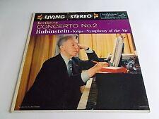 Rubinstein Beethoven Concerto No. 2 LP 1958 RCA Living Stereo Vinyl Record