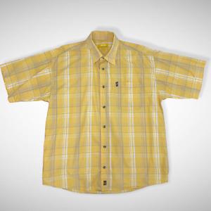 Jeep Men's Plaid Yellow Shirt