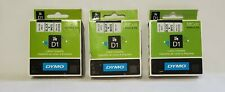 Dymo Lot of 3 ( 45013 ,  43613 , 41913 ) Label Cassettes
