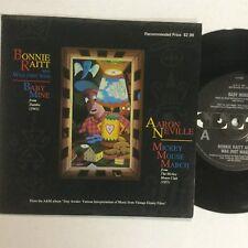 """Bonnie Raitt  Baby Mine , Aaron Neville Mickey Mouse March 7"""" Single Record"""
