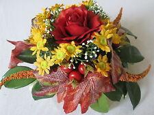 1 Rosen Gesteck Blüten Bouquet Künstliche Kunst Blume Gesteck Kunst Pflanzen