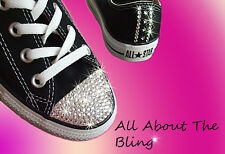 CONVERSE ALL STAR Black with SWAROVSKI CRYSTALS and stars exclusive