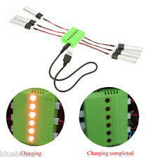 Fly Sets X6 Charger with 6Pcs 3.7V 200mAh Lipo Battery for Wltoys V911 W4F2