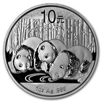 China 2013 Silver Chinese Panda - 1 oz Silver Proof in Plastic Hardshell Case