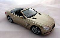 Welly Mercedes Benz SL 500 Cabriolet offen in bronzemet ca. 12 cm lang