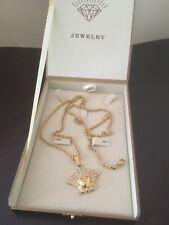 "28"" Torsade Medusa Necklace With Cubic Zirconia 18k Gold Filled"