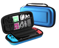 BLUE -Hard Protective Carry Case HANDLE  For Nintendo SWITCH Console Game