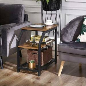 Industrial Vintage 3 Tier Sofa Side End Table Coffee Table Bedside Lamp Table Q