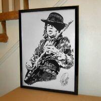 Stevie Ray Vaughan SRV Singer Guitar Rock Music Poster Print Wall Art 18x24