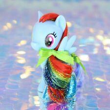 My Little Pony RAINBOW DASH Blue Lightning Glitter Tinsel G4.5 MLP Movie BA601