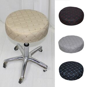 Round Chair Cover Bar Stool Covers Square Plaid Seat Protector Slipcover S-XL