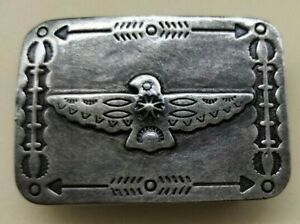 Genuine USA Ralph Lauren Double RL Indian Eagle 100% Brass Carved Belt Buckle