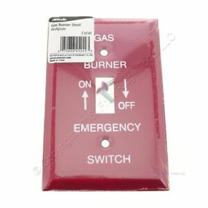 Amerelle Gas Burner Emergency Wallplate Plate 1-Toggle C974T