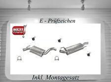 Auspuffanlage VW Golf 3, 4 1.8 Auspuff + Cabrio mit Montagesatz Neu Top Qualität